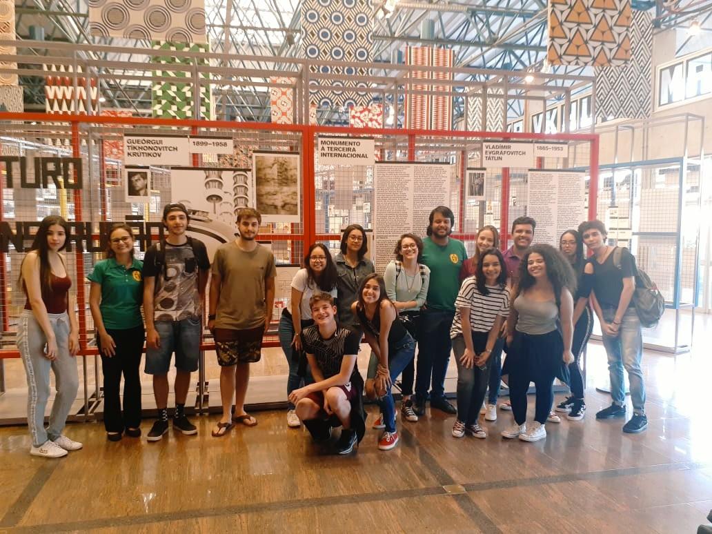 Visita ao Sesc Rio Preto durante as atividades da III Capivarada Cultural dos Vitorianos